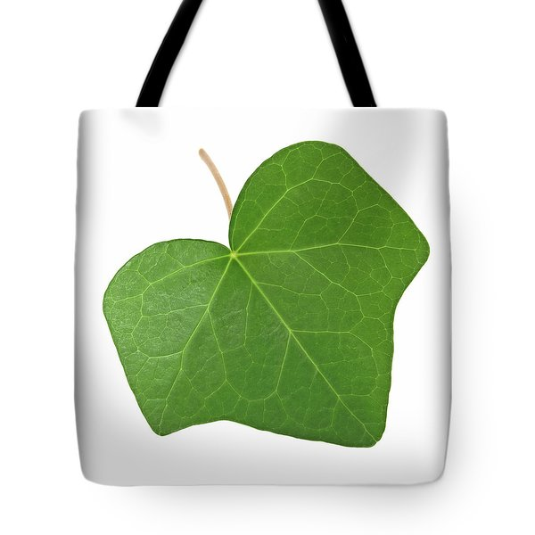 Green Ivy Leaf Tote Bag by GoodMood Art
