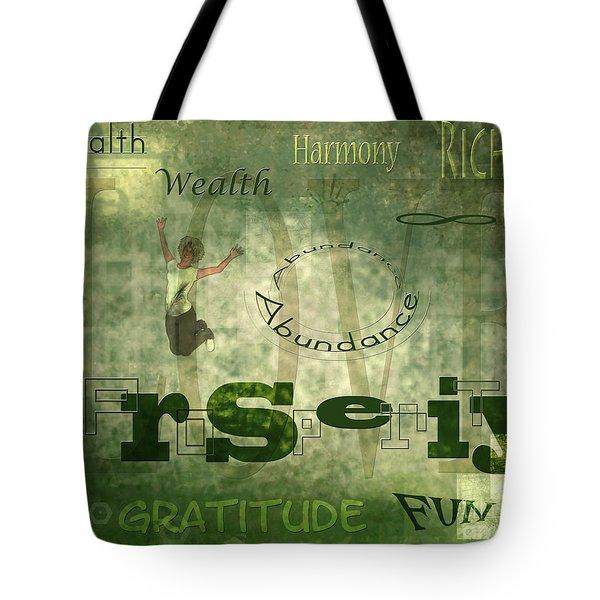 Green Knowings Tote Bag