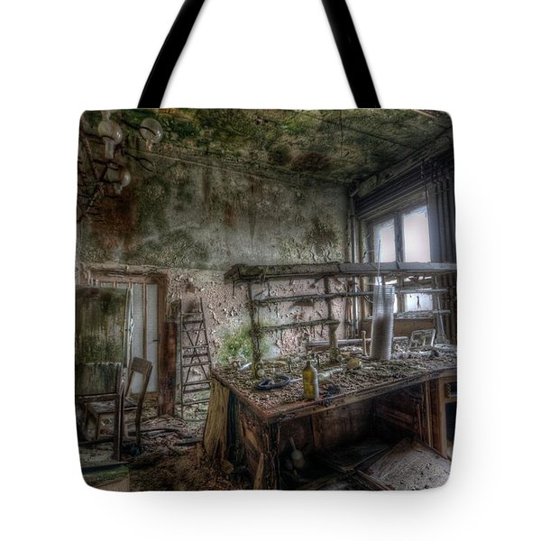 Green Lab Tote Bag by Nathan Wright