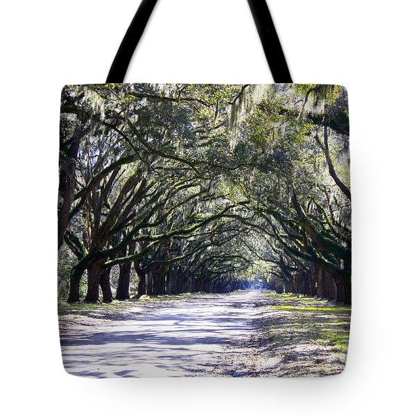 Green Lane Tote Bag by Carol Groenen