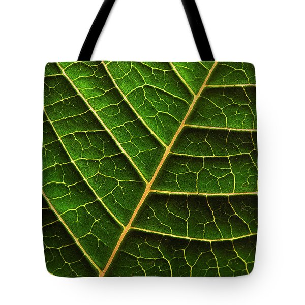 Green Leaf Macro Tote Bag
