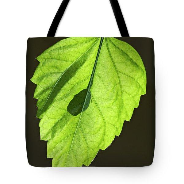 Green Hibiscus Leaf Tote Bag