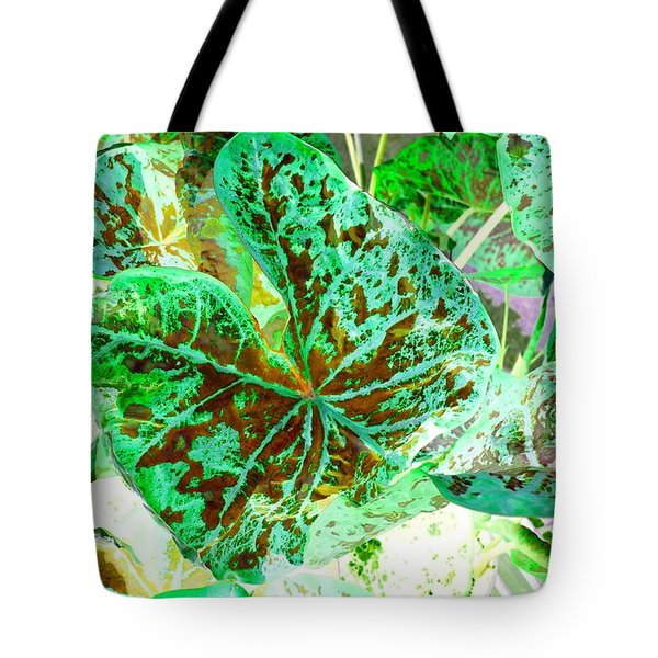 Tote Bag featuring the photograph Green Leafmania 1 by Marianne Dow