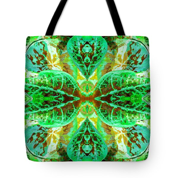 Green Leafmania 3 Tote Bag by Marianne Dow