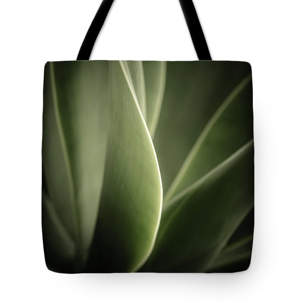 Tote Bag featuring the photograph Green Leaves Abstract by Marco Oliveira