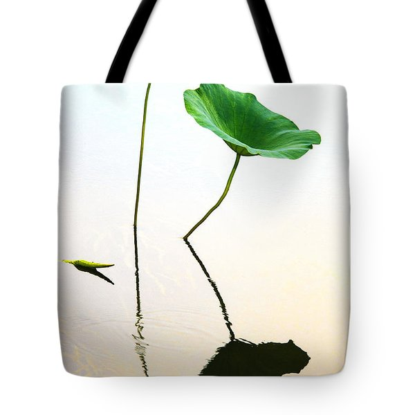 Green Leaves Tote Bag by Carolyn Dalessandro