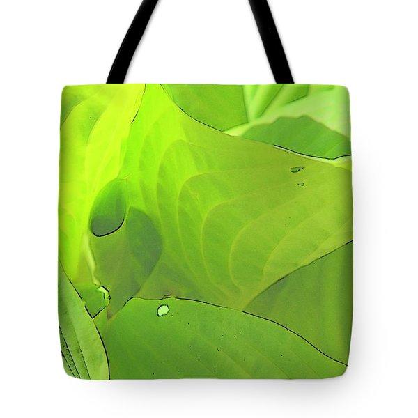 Green Leaves Sketch 2 Tote Bag