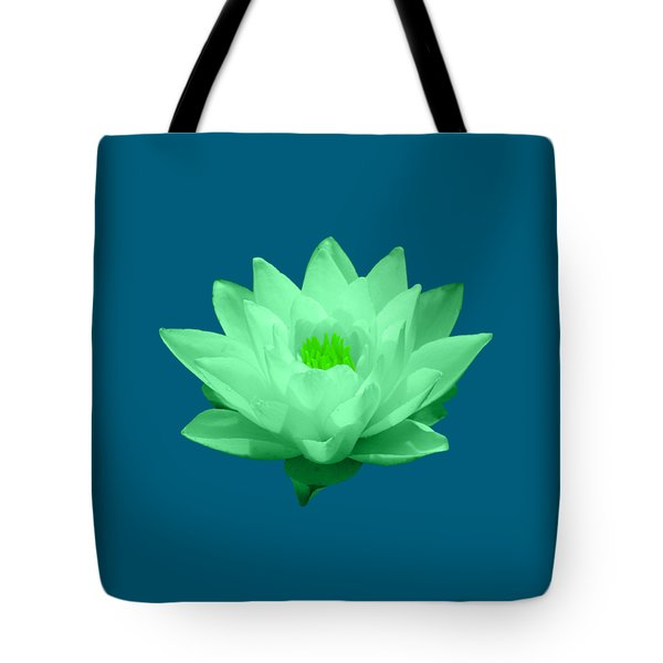 Green Lily Blossom Tote Bag