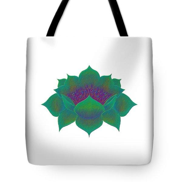 Tote Bag featuring the digital art Green Lotus by Elizabeth Lock