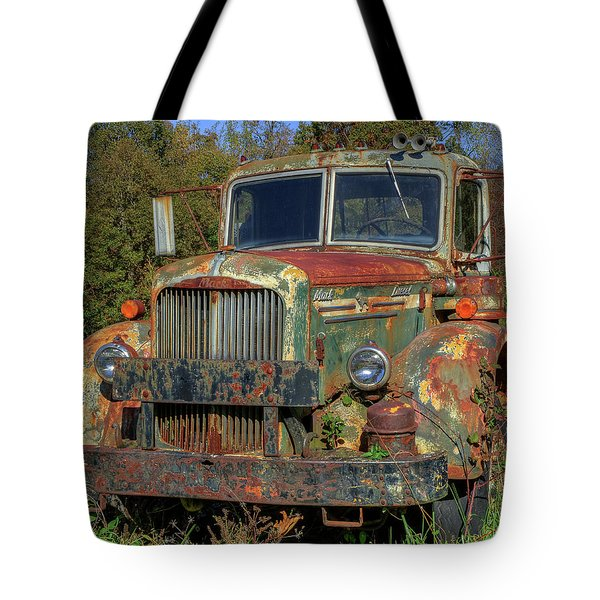 Green Mack Truck Tote Bag