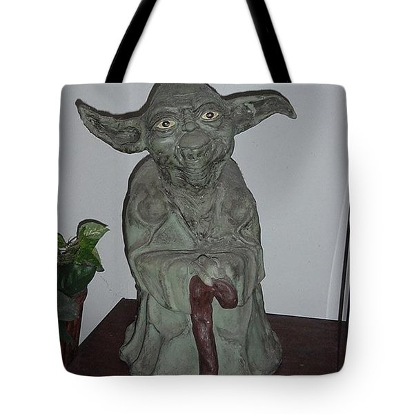 Green Man Tote Bag by Val Oconnor