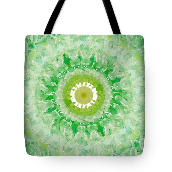 Green Mandala- Abstract Art By Linda Woods Tote Bag