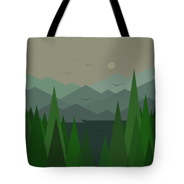 Green Mist Tote Bag