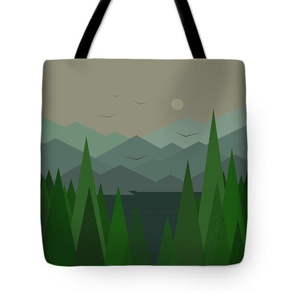 Green Mist Tote Bag