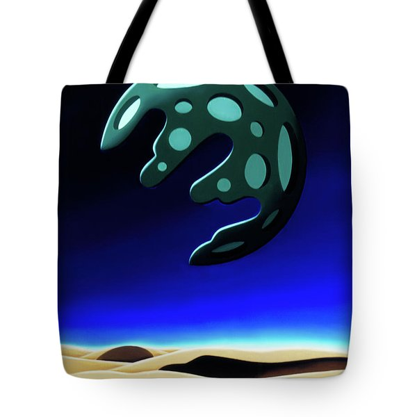 Green Moon Rising Tote Bag