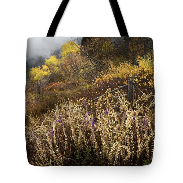 Green Mountain Dawn Tote Bag