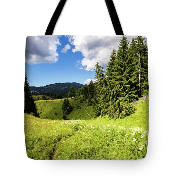 Green Mountain Tote Bag by Evgeni Dinev