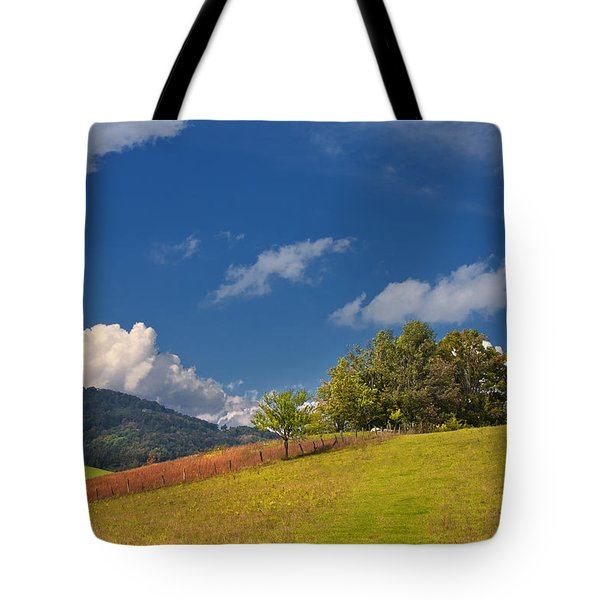 Tote Bag featuring the photograph Green Mountain Pasture by Ken Barrett