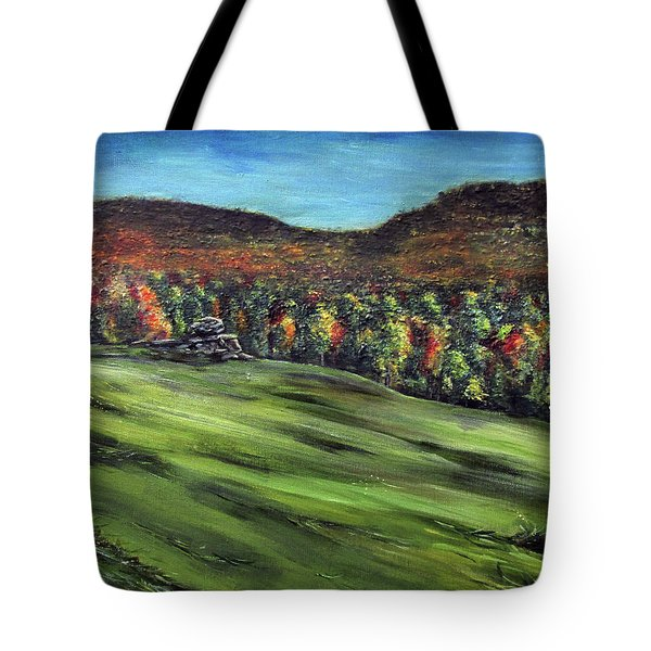 Green Mountain Retreat Tote Bag by Denny Morreale