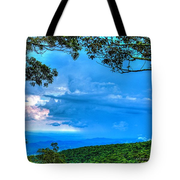 Green Mountain Storm Tote Bag