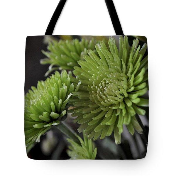 Green Mums Tote Bag