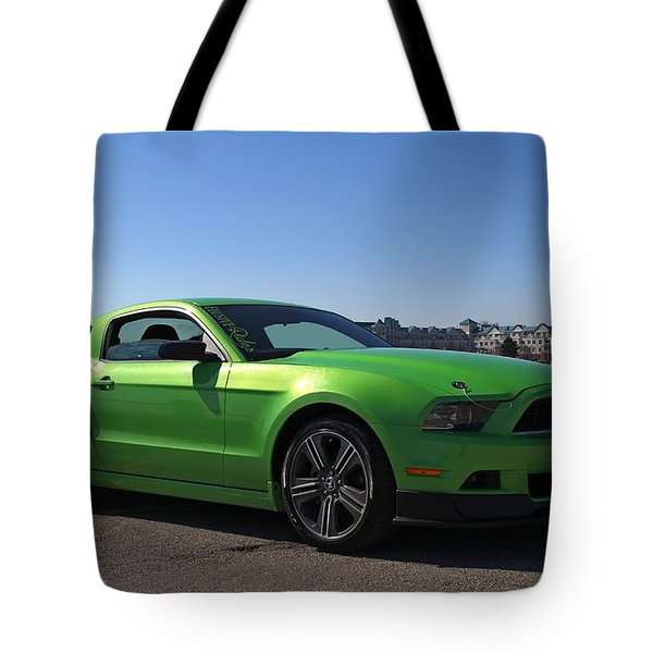 Green Mustang Tote Bag