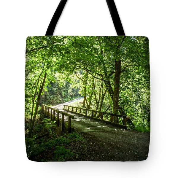 Green Nature Bridge Tote Bag