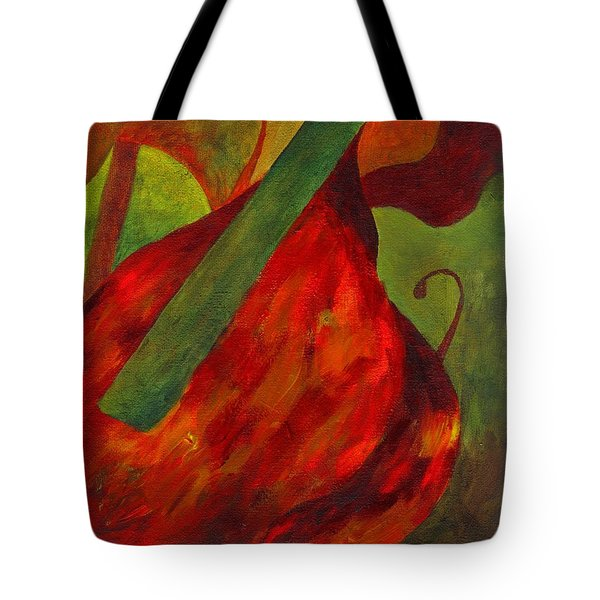 Green Neck Fiddle Tote Bag