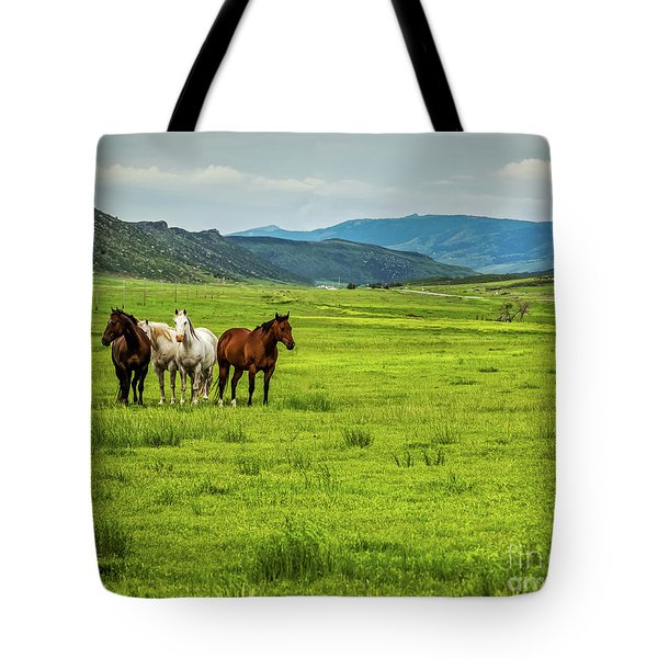 Green Pastures Tote Bag by Jon Burch Photography