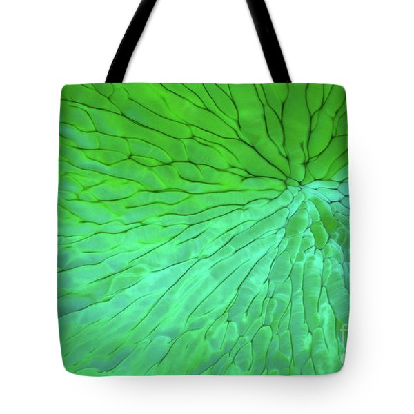 Green Pattern Under The Microscope Tote Bag