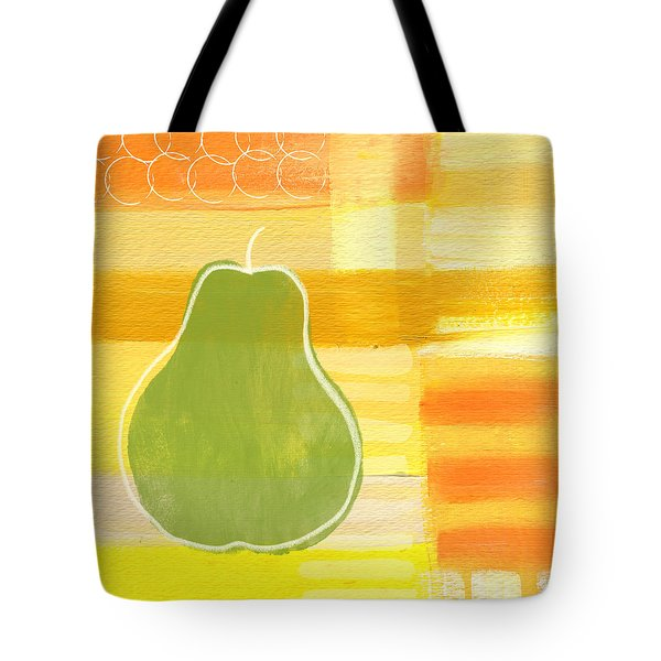 Green Pear- Art By Linda Woods Tote Bag by Linda Woods