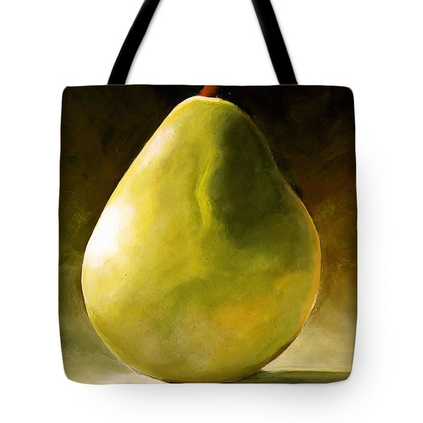 Green Pear Tote Bag by Toni Grote
