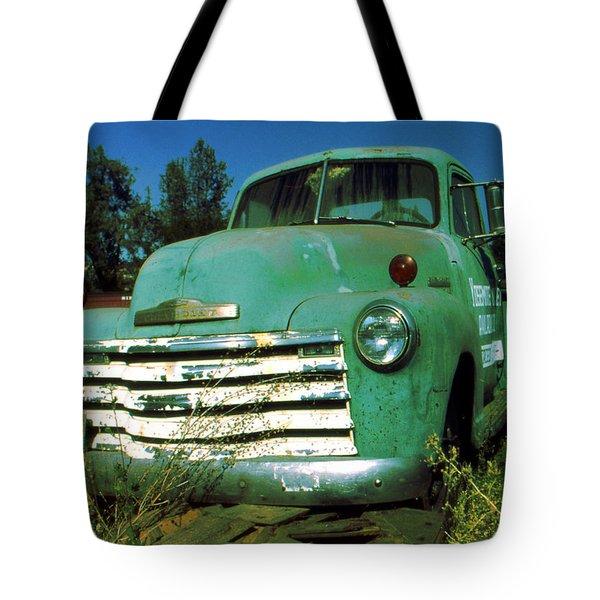 Green Pickup Truck 1959 Tote Bag