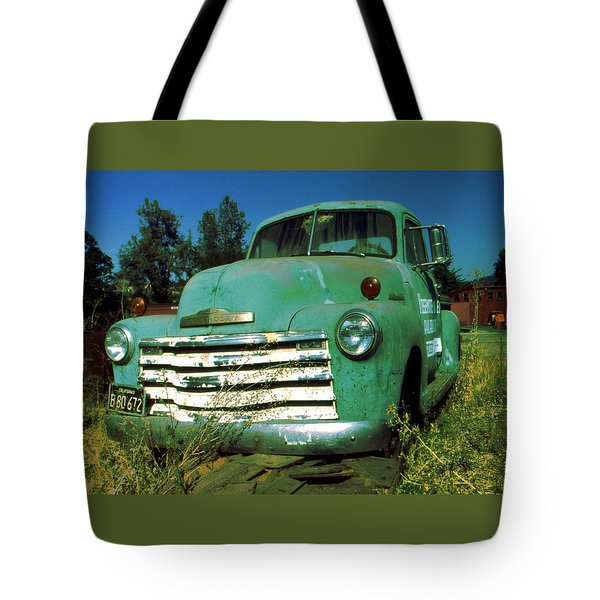 Green Pickup 1959 - American Car Photo Tote Bag by Art America Gallery Peter Potter