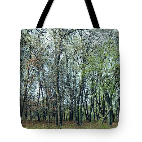 Green Pushing Out Tote Bag