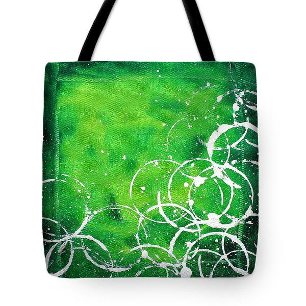 Green Riches By Madart Tote Bag by Megan Duncanson