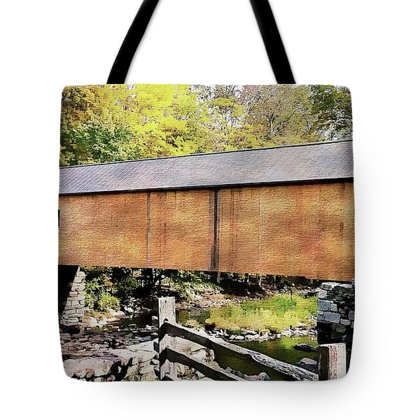 Tote Bag featuring the photograph Green River Covered Bridge - Vermont by Joseph Hendrix