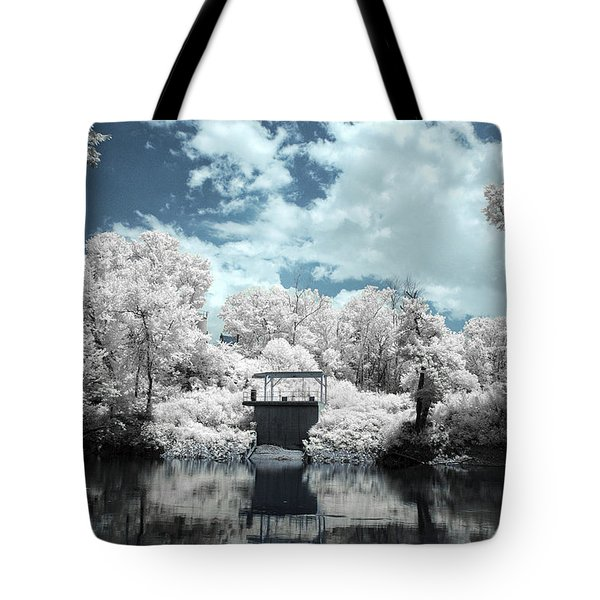 Green River Ir Tote Bag by Amber Flowers