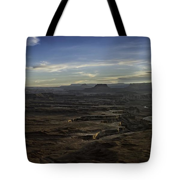 Tote Bag featuring the photograph Green River Overlook by Bitter Buffalo Photography