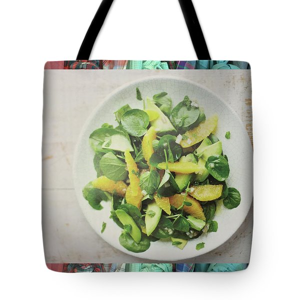 Tote Bag featuring the photograph Green Salad Kitchen Chef Cuisine Christmas Holidays Birthday Festivals Mom Dad Sister Friends by Navin Joshi