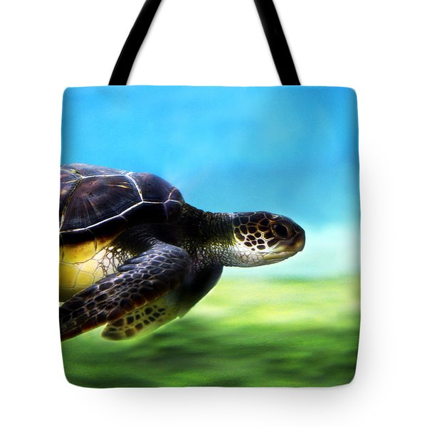 Green Sea Turtle 2 Tote Bag by Marilyn Hunt