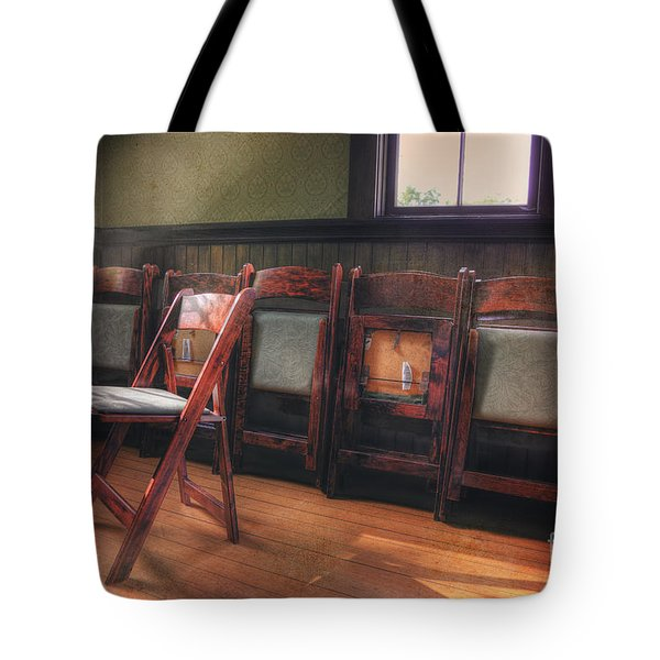 Green Seat Chair # 2 Tote Bag