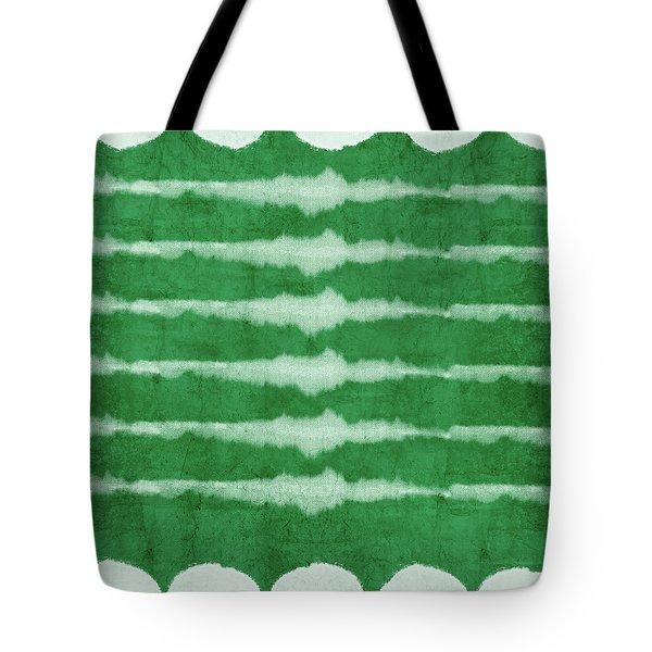 Green Shibori 3- Art By Linda Woods Tote Bag