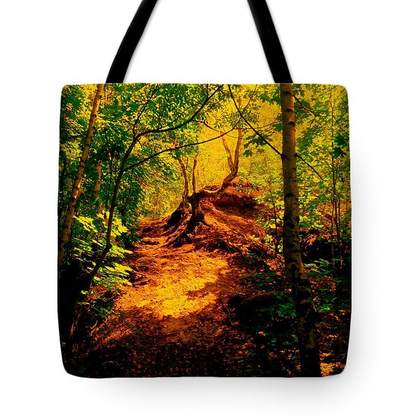 Green Silence Tote Bag