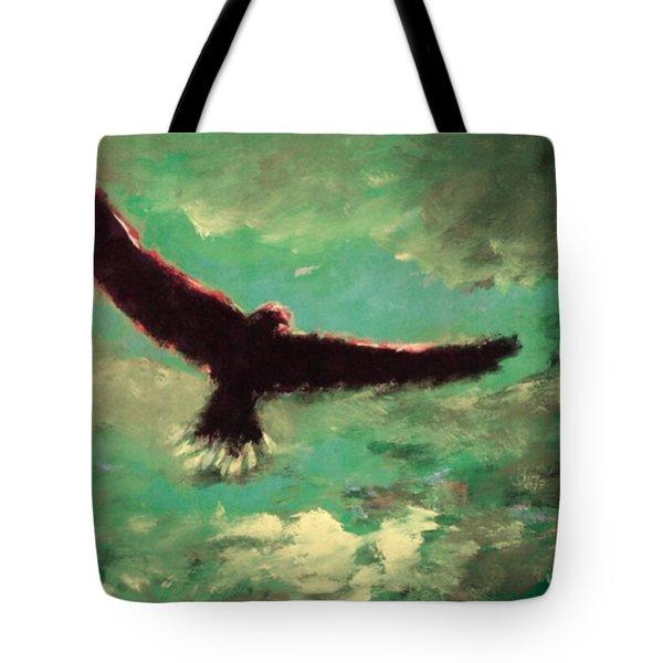 Green Sky Tote Bag