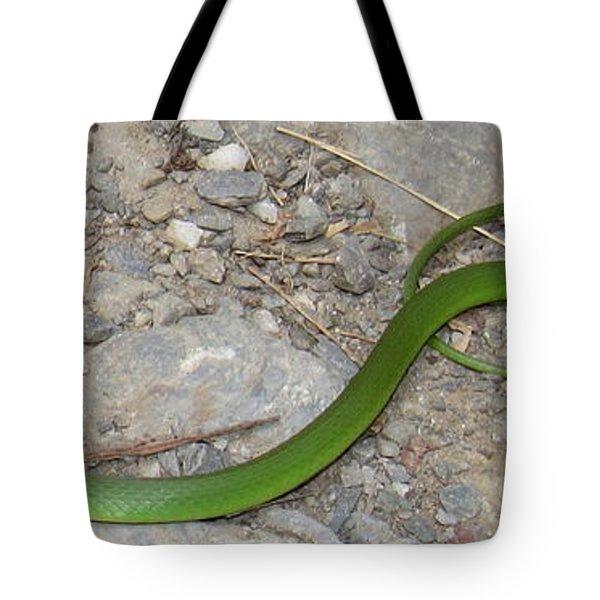 Green Snake Tote Bag