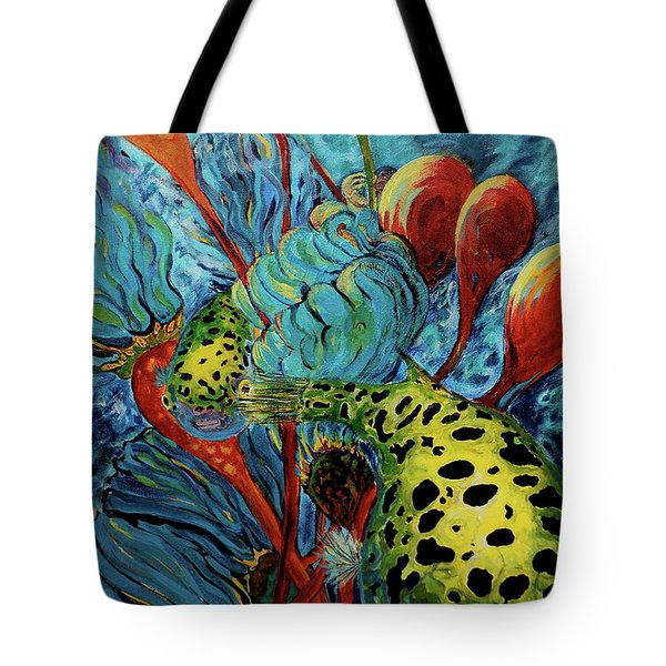 Green Spotted Puffer Tote Bag