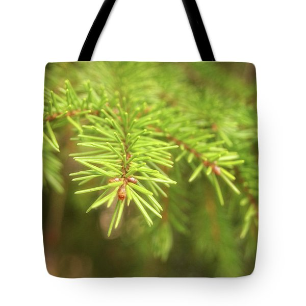 Green Spruce Branch Tote Bag
