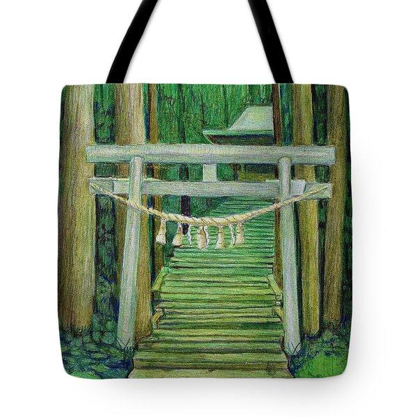 Green Stairway Tote Bag