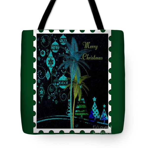 Tote Bag featuring the digital art Green Stamp by Megan Dirsa-DuBois